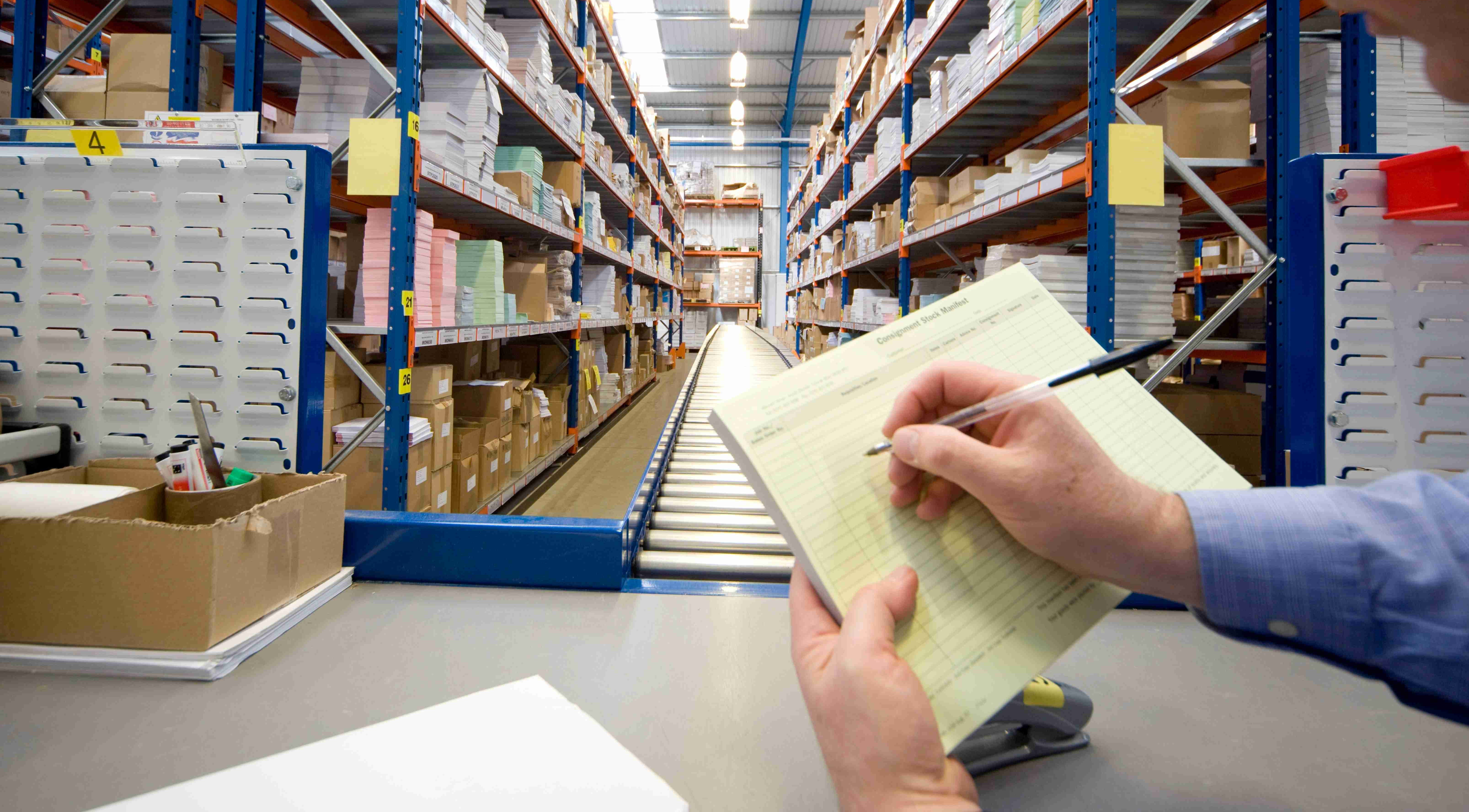 Image of a man doing inventory check