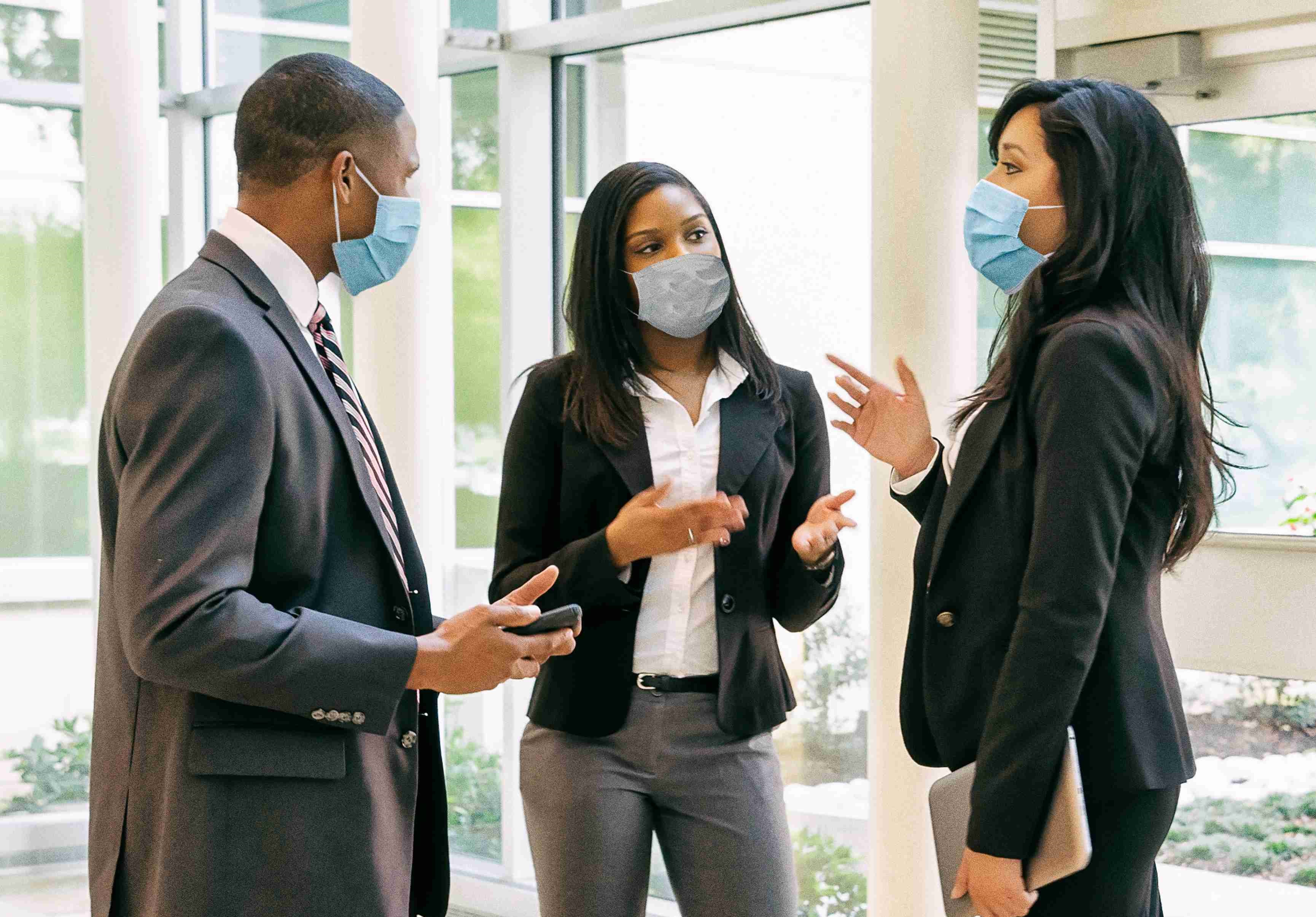 Image of people with Protective Face Mask