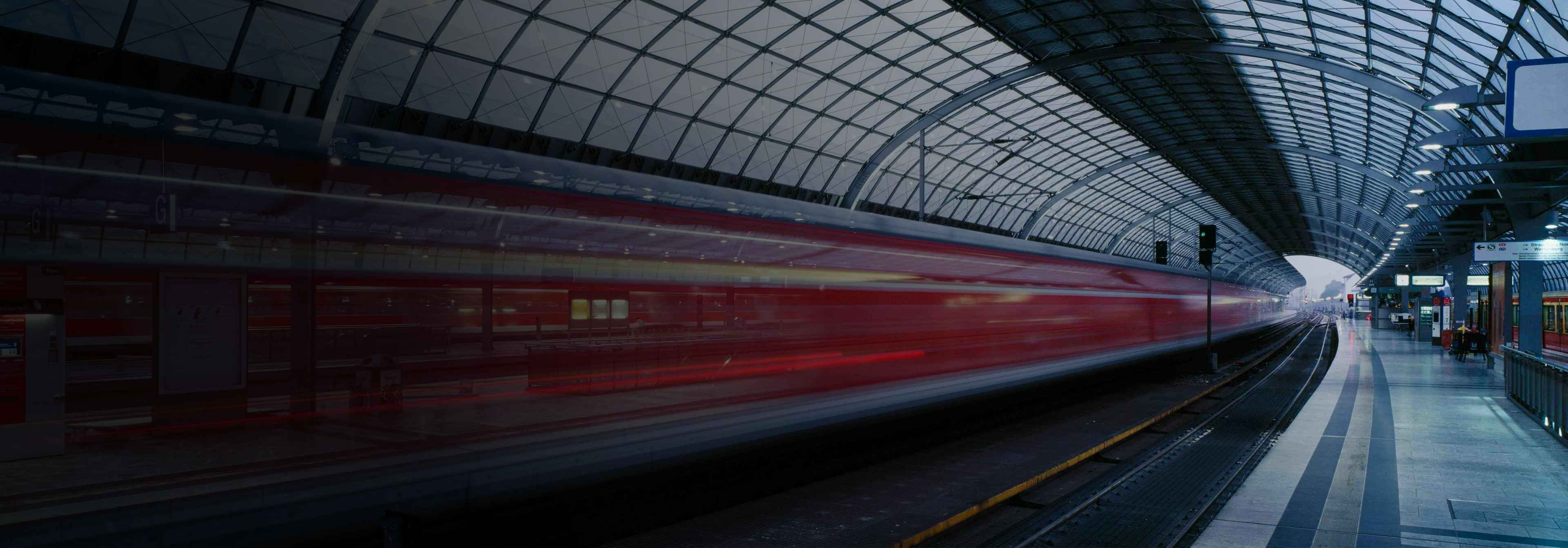 Photo of a train station
